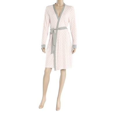 Llanos Wrap Bathrobe Size: Extra Large, Color: Pink/White