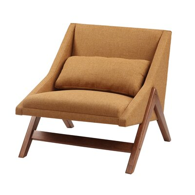 Boomerang Lounge Chair Upholstery: Mustard Yellow