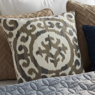 Mead Embroidered Medallion Decorative Pillow Color: Naural