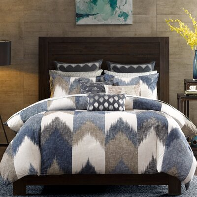 Alpine 3 Piece Duvet Cover Set Size: Full/Queen, Color: Blue