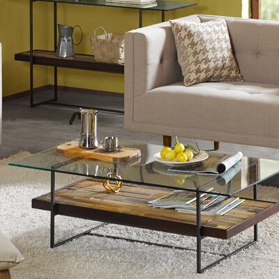 Macrae Coffee Table with Magazine Rack