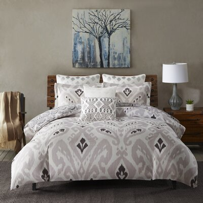 Sasha 3 Piece Duvet Cover Mini Set Size: King/California King