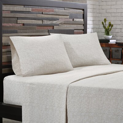 Cora 200 Thread Count Cotton Sheet Set Size: Twin, Color: Taupe
