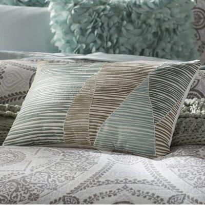 Bengal Embroidered Cotton Lumbar Pillow Color: Blue