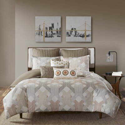 Ayana 3 Piece Reversible Duvet Cover Set Size: King/California King