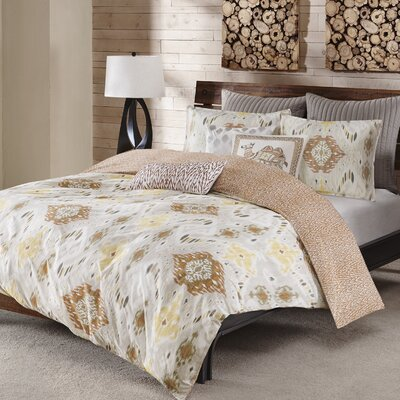 Nia 3 Piece Duvet Cover Set Size: King / California King, Color: Spice