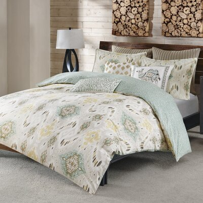 Nia 3 Piece Duvet Cover Set Size: Full / Queen, Color: Seafoam