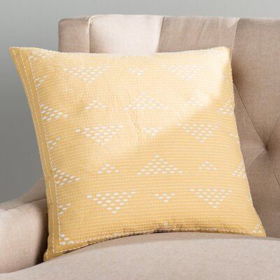 Cario Embroidered Cotton Throw Pillow Color: Yellow
