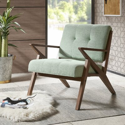 Alvarado Lounge Chair Upholstery: Fern green