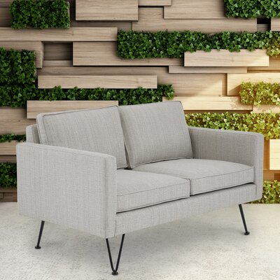 Austin Outdoor Loveseat Fabric: Beige