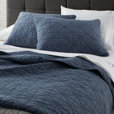Morris Cotton 3 Piece Coverlet Set Size: King/California King, Color: Blue