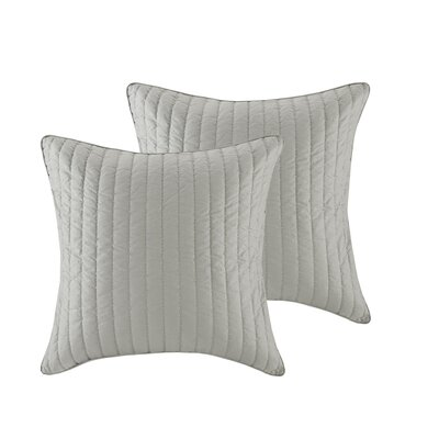 Camila Quilted Euro Sham Color: Gray