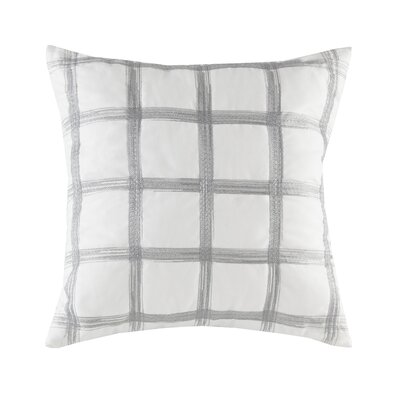 Gregory Embroidered 100% Cotton Throw Pillow