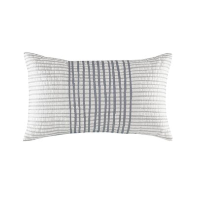 Bishop Embroidered Oblong 100% Cotton Lumbar Pillow