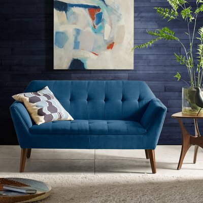 Newport Loveseat Color: Blue