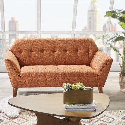Newport Loveseat Color: Orange