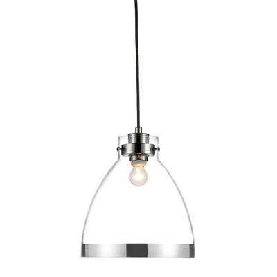 Channing 1-Light Inverted Pendant Base Finish: Silver