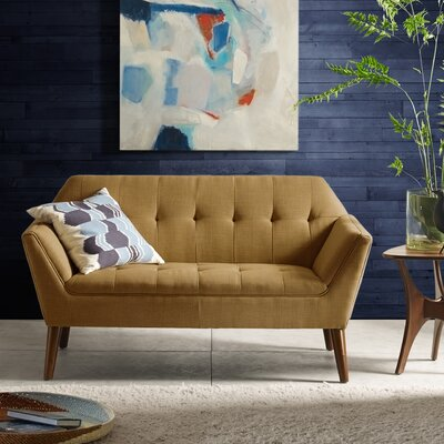 Newport Sofa Color: Brown
