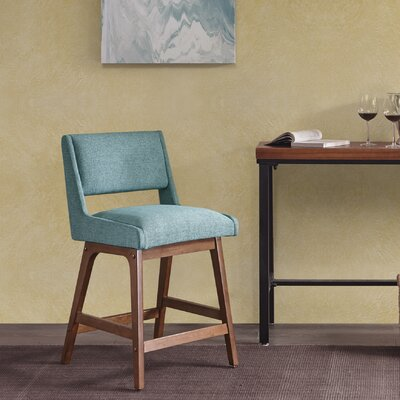 Deerpark 25 Bar Stool Upholstery: Blue