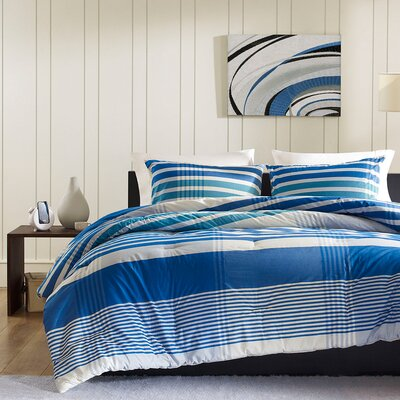 Connor Reversible Comforter Set Size: King
