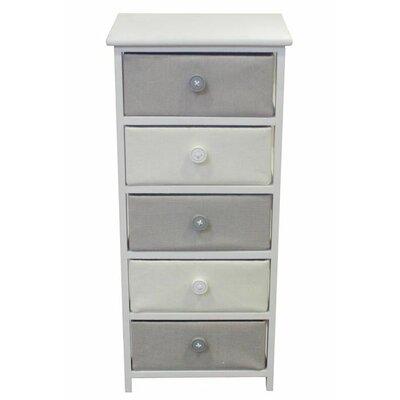 5 Drawer Wooden Cabinet