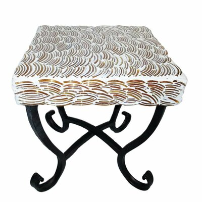 Fanette Square Mosaic Side Table Table Size: 9 L x 9 W