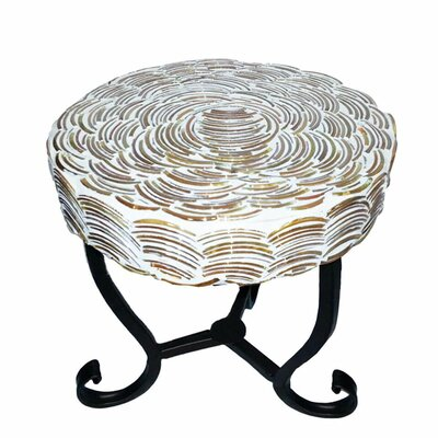 Fanette Round Mosaic Side Table Table Size: 9.25 L x 9.25 W