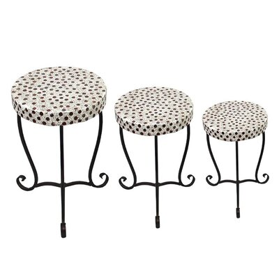 Eldon 3 Piece Round Mosaic Side Table Set
