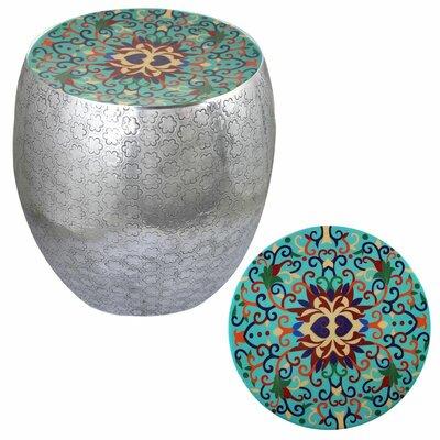 Halaka Damask Art Accent Stool