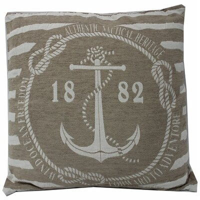 Chilton Anchor Stripes 100% Cotton Throw Pillow