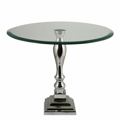 Coffield Aluminum and Glass End Table