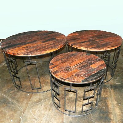 Seychella 3 Piece Wooden Chat Table Set