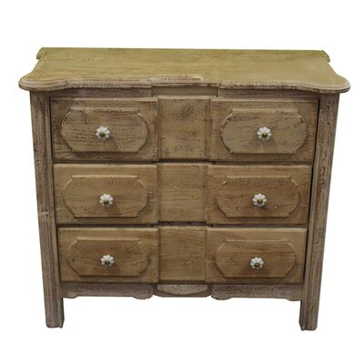 Cabravale Wooden 3 Drawer Dresser