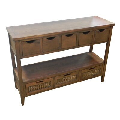 Burlands Wooden Storage Console Table