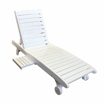 Burdella Wooden Pool Chaise Lounge