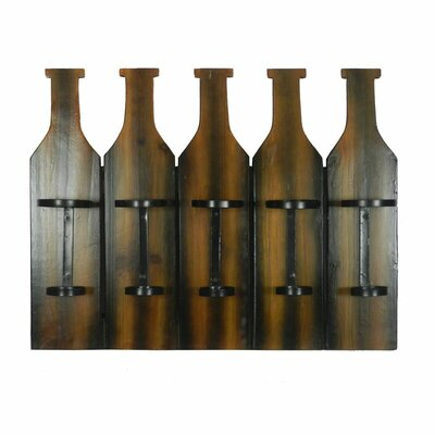 Chandeleur 5 Bottle Wall Mounted Wine Rack