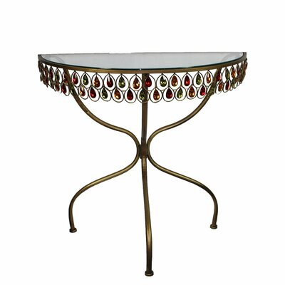 Wasco Glass and Metal End Table