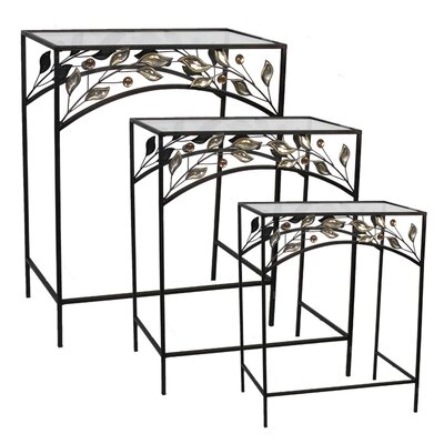 Coombs Traditional 3 Piece Metal Nesting Table Set
