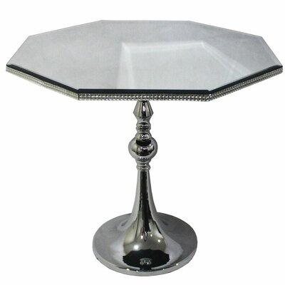 Westwood Glass End Table Size: 16.93 H x 17.13 W x 17.13 D