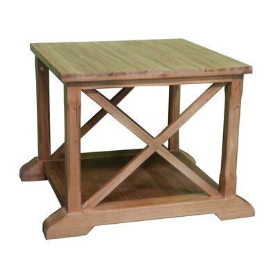 Chatmon Wooden Coffee Table with Magazine Rack