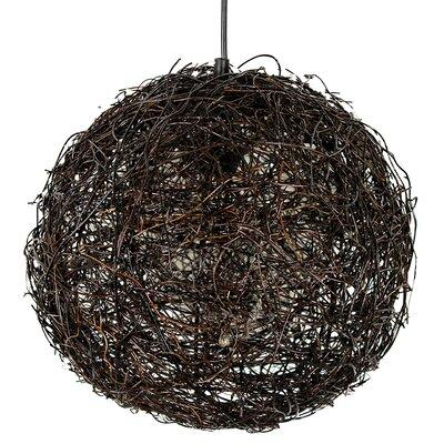 Alayah Rattan 1-Light Globe Pendant