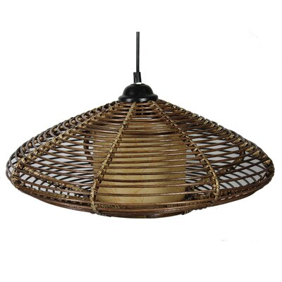 Mortimer Rattan 1-Light Geometric pendant