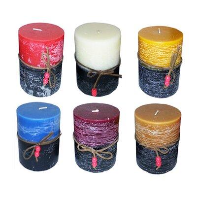 "Two Tone Scented Pillar Candle Size: 6"" H x 3"" W x 3"" D 6E5912AA6E7A48A99E08C8511FEBCA19"