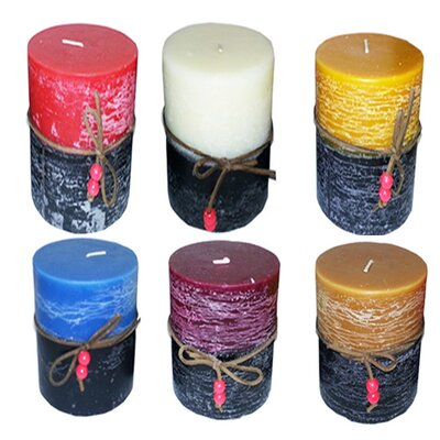 """Two Tone Scented Pillar Candle Size: 8"""" H x 3"""" W x 3"""" D 441263EE8722490B8D1E1E1745B817B5"""