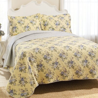 Linley Reversible Quilt Set Size: King