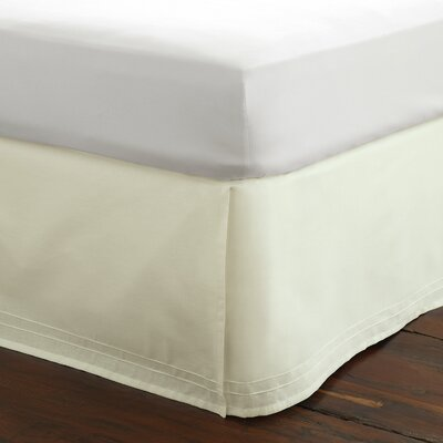 Solid Bed Skirt Size: Full, Color: Ivory