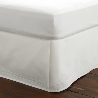 Solid Bed Skirt Color: White, Size: Queen