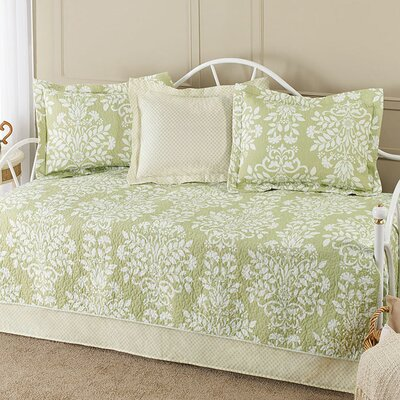 Ivana 5-Piece Cotton Daybed Quilt Set in Sage by Laura Ashley 191604