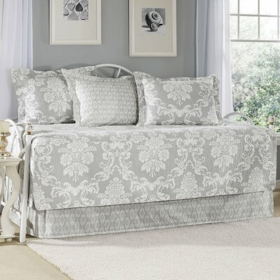 Venetia Gray 5 Piece Twin Daybed Quilt Set
