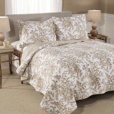 Bedford Cotton Reversible Quilt Set Size: King